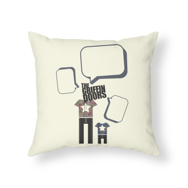 """THE GRIFFINDOORS """"Talk"""" Home Throw Pillow by Turkeylegsray's Artist Shop"""