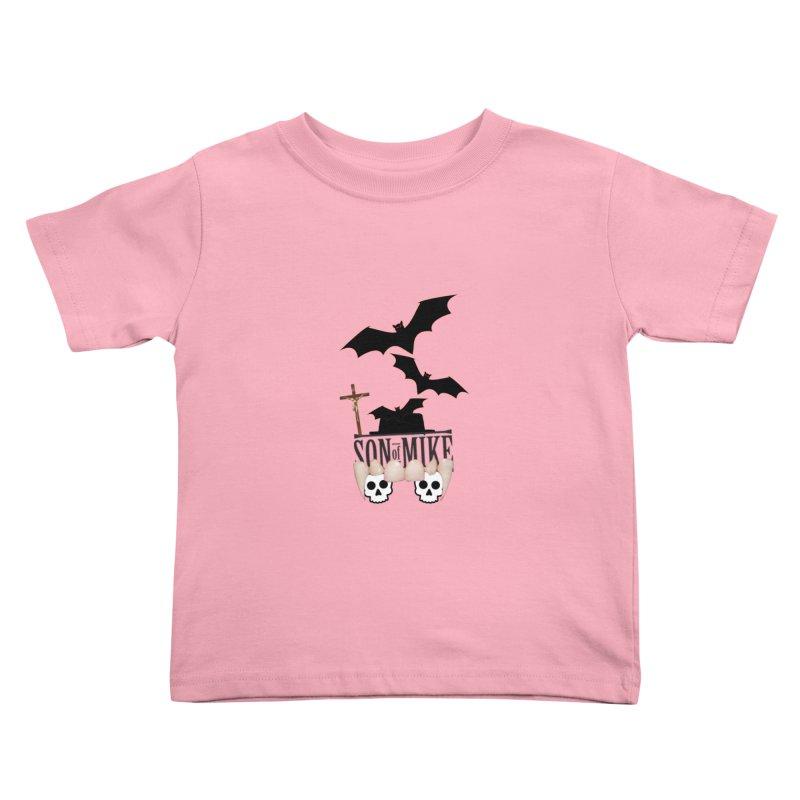 "SON OF MIKE ""Bats & Skulls"" Kids Toddler T-Shirt by Turkeylegsray's Artist Shop"