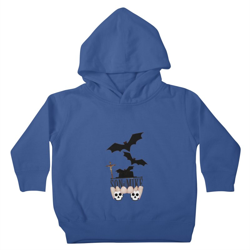 "SON OF MIKE ""Bats & Skulls"" Kids Toddler Pullover Hoody by Turkeylegsray's Artist Shop"