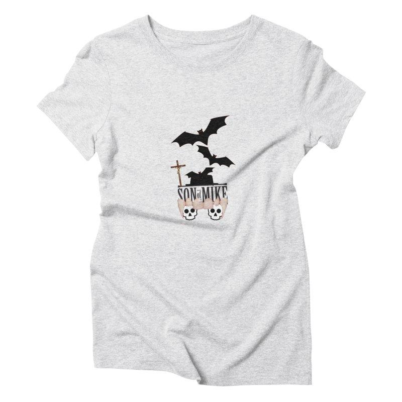"SON OF MIKE ""Bats & Skulls"" Women's Triblend T-shirt by Turkeylegsray's Artist Shop"