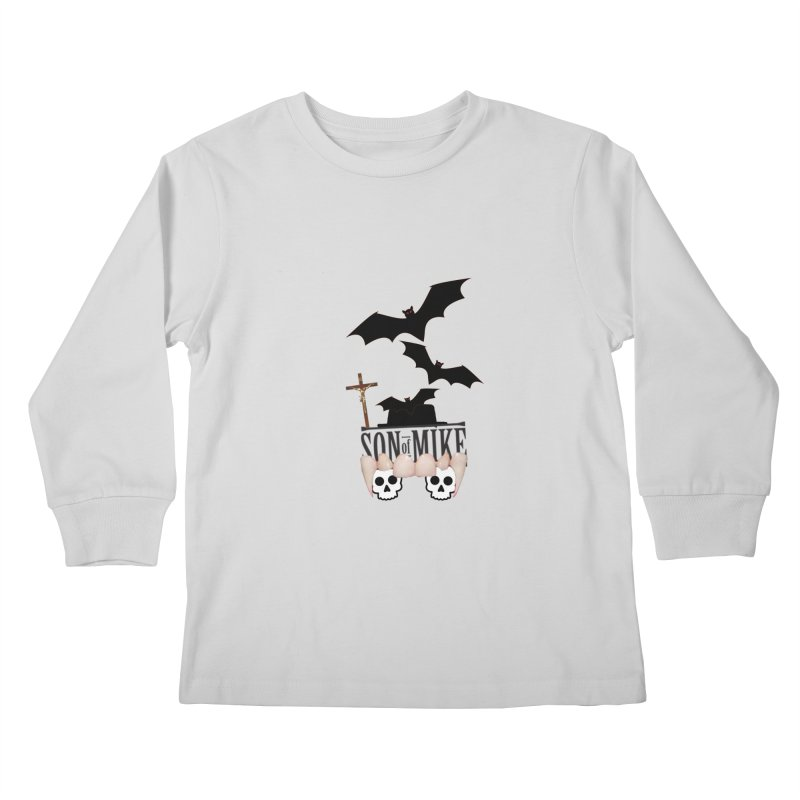 "SON OF MIKE ""Bats & Skulls"" Kids Longsleeve T-Shirt by Turkeylegsray's Artist Shop"