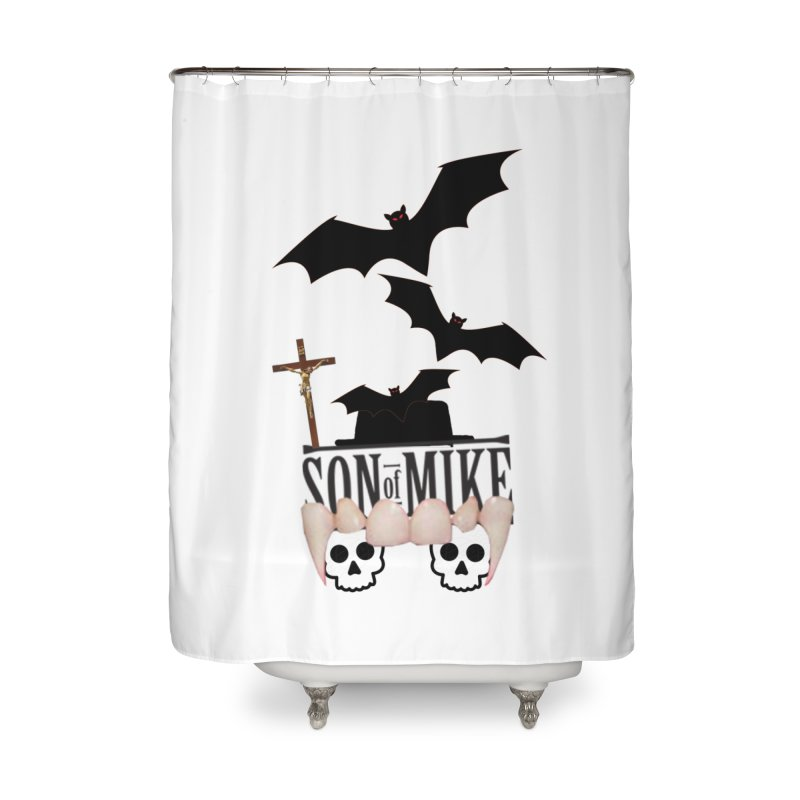 "SON OF MIKE ""Bats & Skulls"" Home Shower Curtain by Turkeylegsray's Artist Shop"