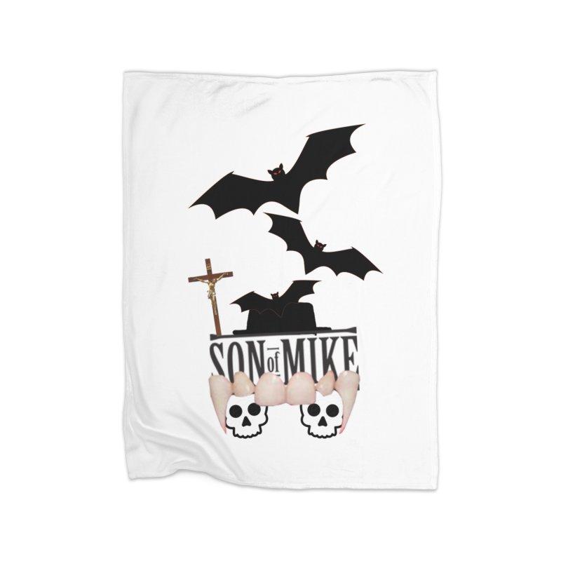 "SON OF MIKE ""Bats & Skulls"" Home Blanket by Turkeylegsray's Artist Shop"