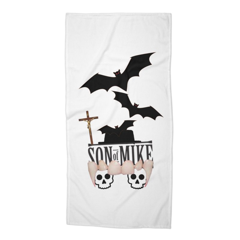 "SON OF MIKE ""Bats & Skulls"" Accessories Beach Towel by Turkeylegsray's Artist Shop"