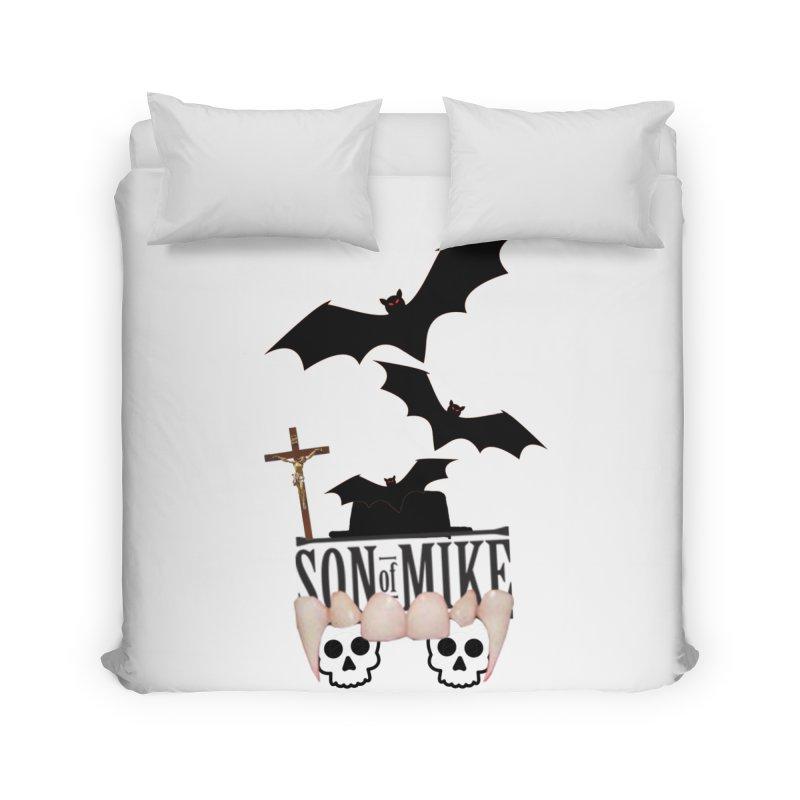 """SON OF MIKE """"Bats & Skulls"""" Home Duvet by Turkeylegsray's Artist Shop"""