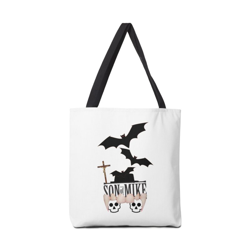 "SON OF MIKE ""Bats & Skulls"" Accessories Bag by Turkeylegsray's Artist Shop"