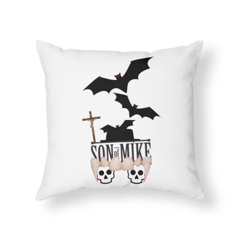"SON OF MIKE ""Bats & Skulls"" Home Throw Pillow by Turkeylegsray's Artist Shop"