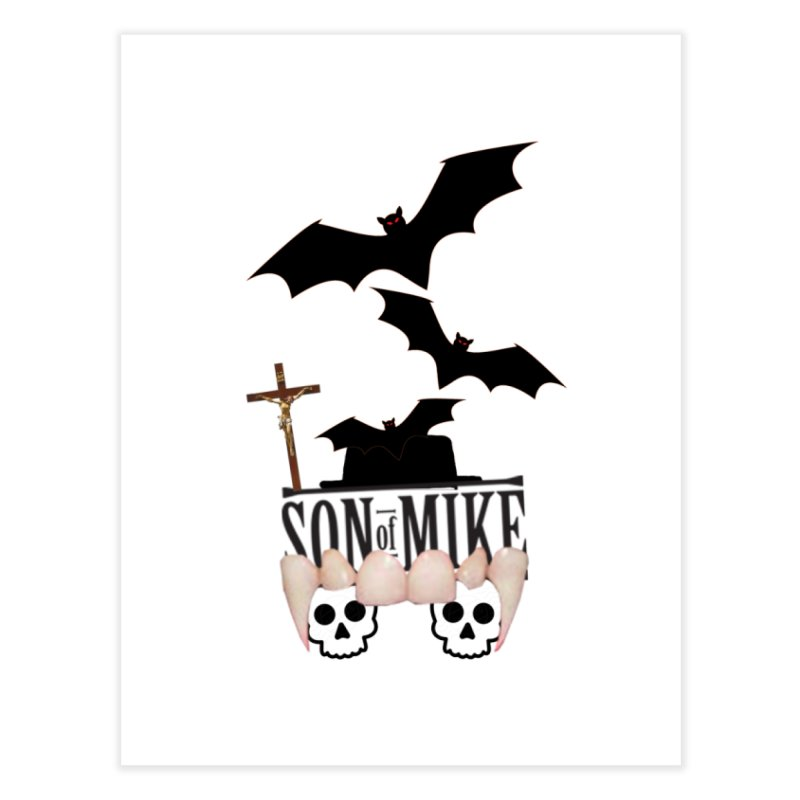 "SON OF MIKE ""Bats & Skulls"" Home Fine Art Print by Turkeylegsray's Artist Shop"