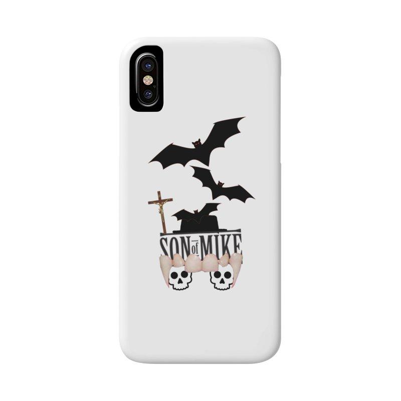 "SON OF MIKE ""Bats & Skulls"" Accessories Phone Case by Turkeylegsray's Artist Shop"