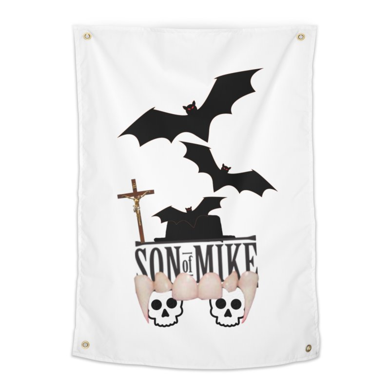 "SON OF MIKE ""Bats & Skulls"" Home Tapestry by Turkeylegsray's Artist Shop"