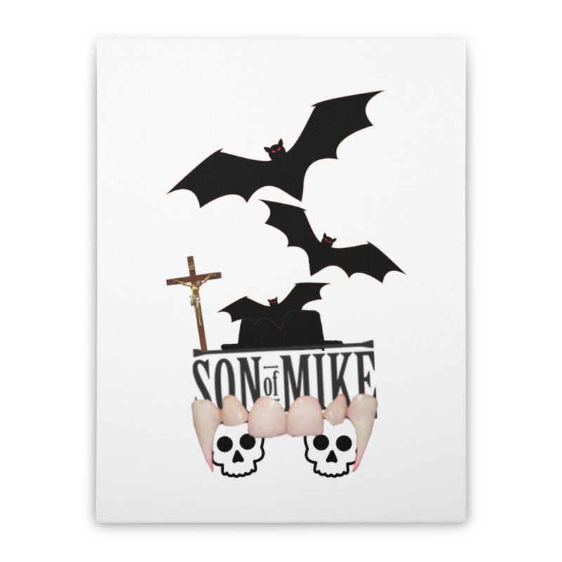 "SON OF MIKE ""Bats & Skulls"" Home Stretched Canvas by Turkeylegsray's Artist Shop"