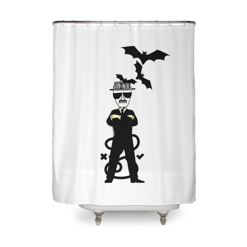 """SON OF MIKE """"Tread Lightly"""" Home Shower Curtain by Turkeylegsray's Artist Shop"""