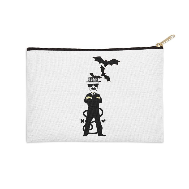"""SON OF MIKE """"Tread Lightly"""" Accessories Zip Pouch by Turkeylegsray's Artist Shop"""