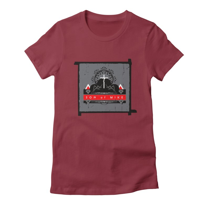 """SON OF MIKE """"High"""" Women's Fitted T-Shirt by Turkeylegsray's Artist Shop"""