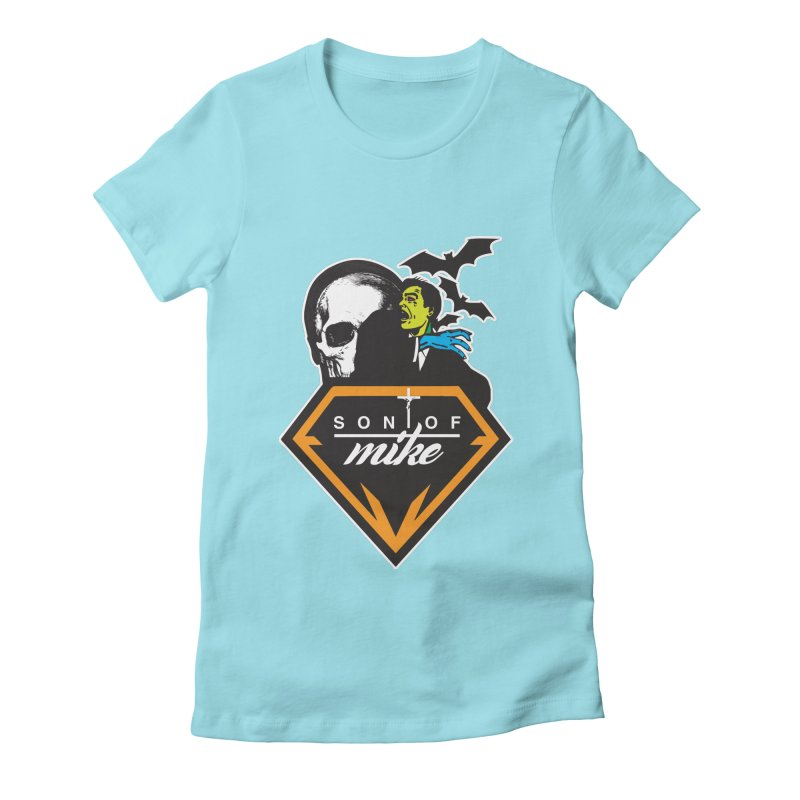 """SON OF MIKE """"Diamond Skull"""" Women's Fitted T-Shirt by Turkeylegsray's Artist Shop"""