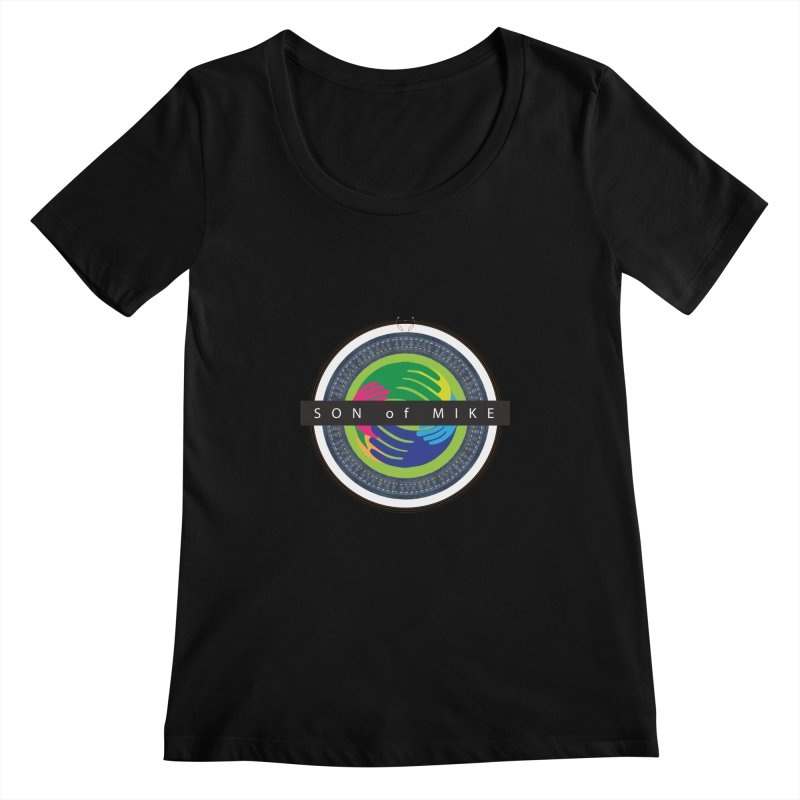 """SON OF MIKE """"Holy Circle"""" Women's Scoopneck by Turkeylegsray's Artist Shop"""