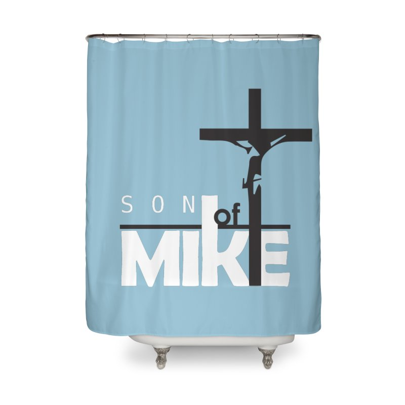 """SON OF MIKE """"Cross"""" Home Shower Curtain by Turkeylegsray's Artist Shop"""