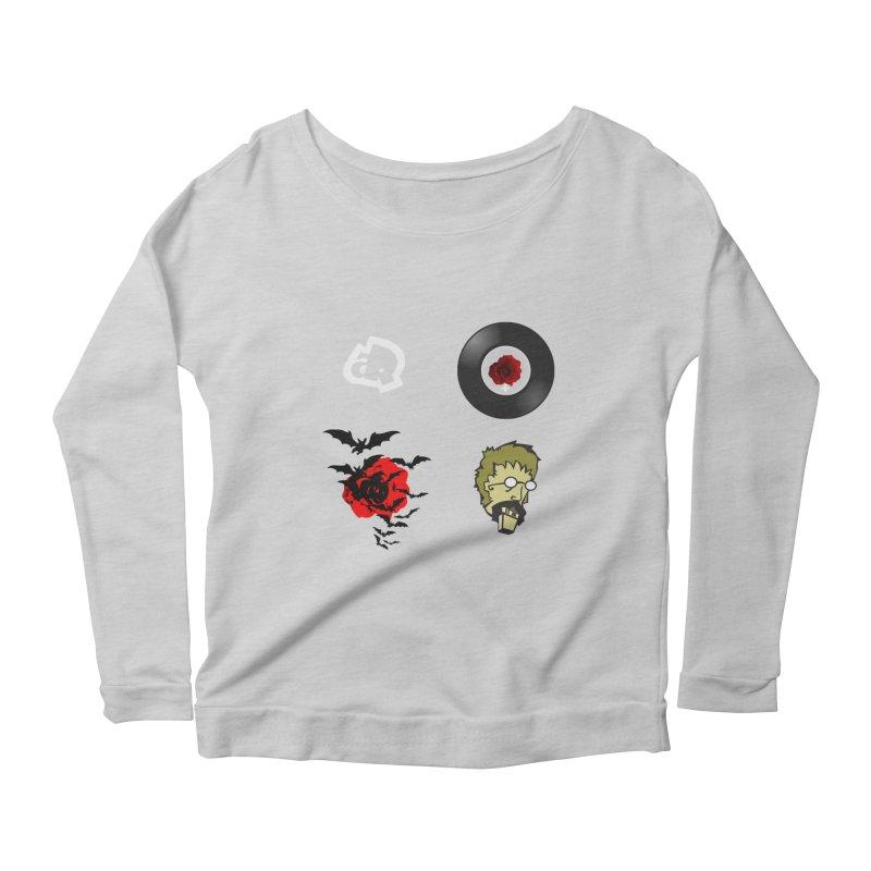4 Logo Women's Longsleeve Scoopneck  by Turkeylegsray's Artist Shop