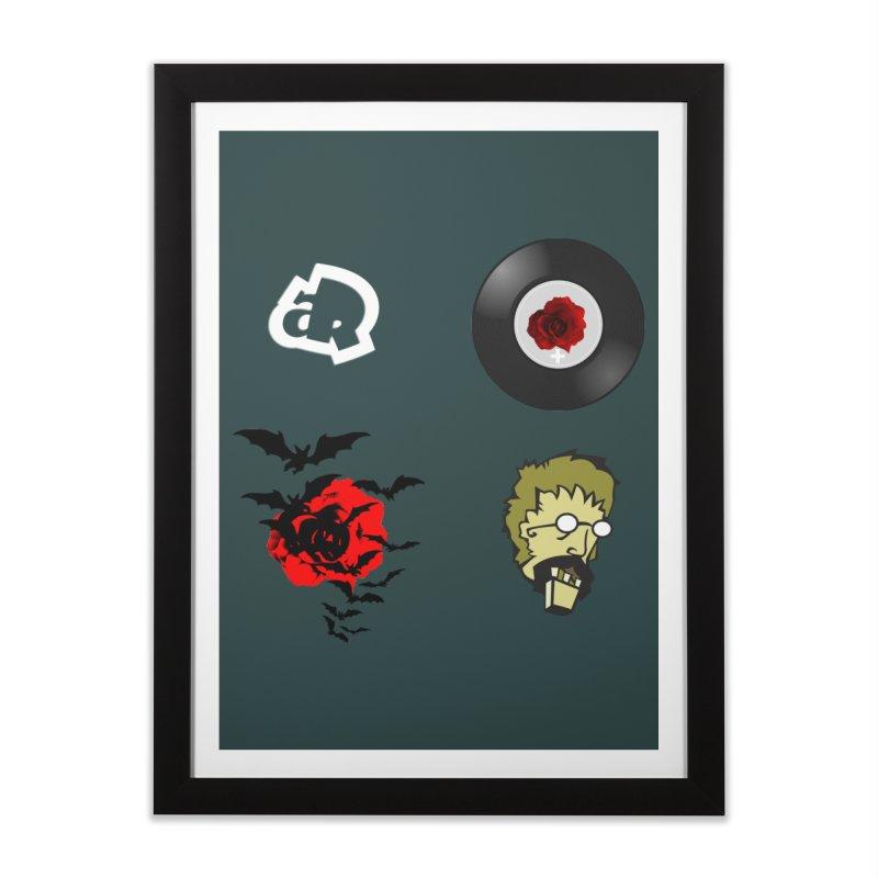 4 Logo Home Framed Fine Art Print by Turkeylegsray's Artist Shop