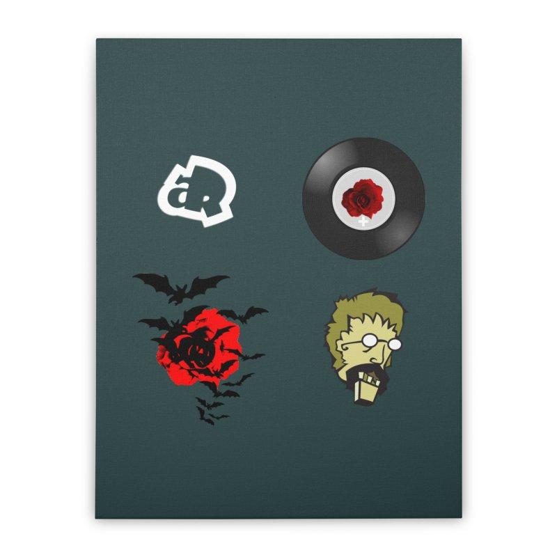 4 Logo Home Stretched Canvas by Turkeylegsray's Artist Shop