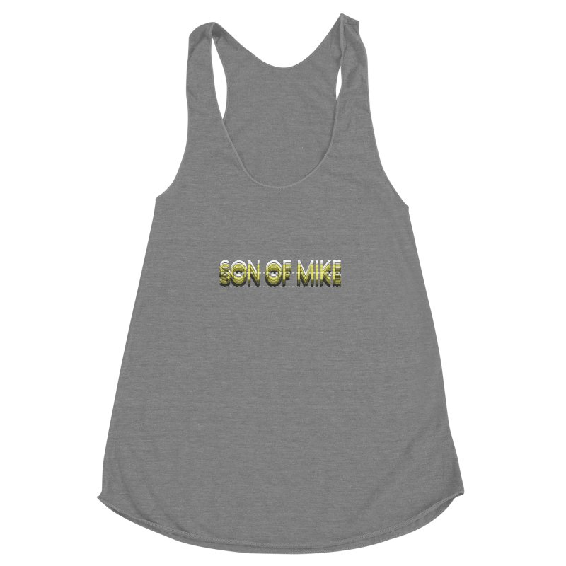 """SON OF MIKE """"Dotted Lines"""" Women's Racerback Triblend Tank by Turkeylegsray's Artist Shop"""