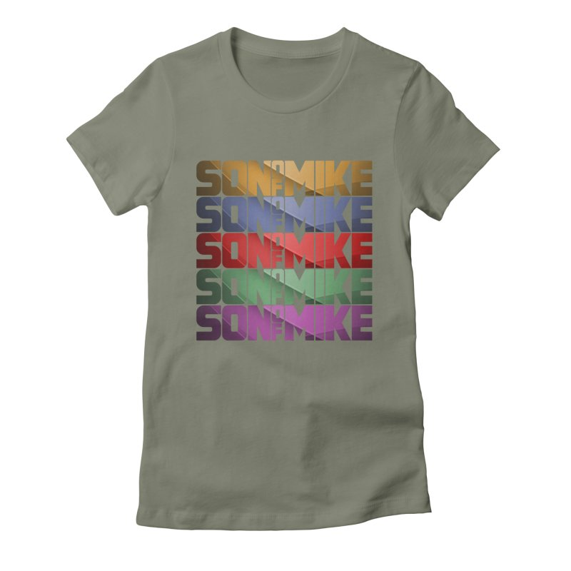 """SON OF MIKE """"Rainbow"""" Women's Fitted T-Shirt by Turkeylegsray's Artist Shop"""