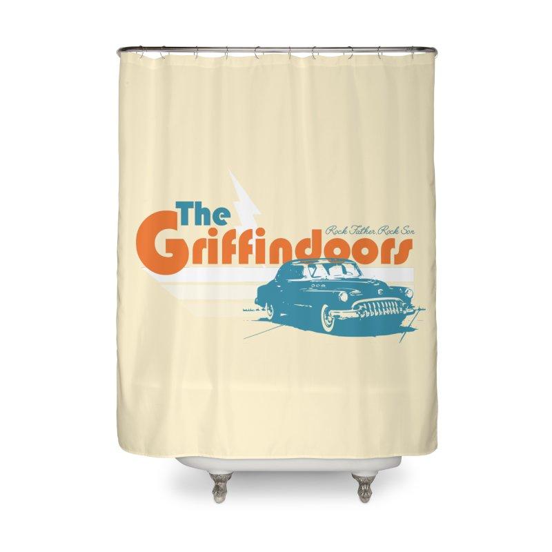 "THE GRIFFINDOORS ""Lightning"" Home Shower Curtain by Turkeylegsray's Artist Shop"