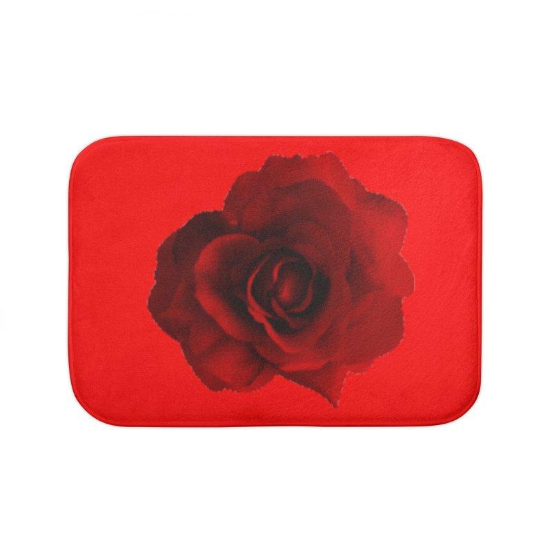 red Home Bath Mat by Turkeylegsray's Artist Shop
