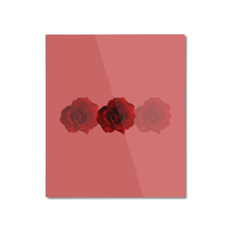 red 3 Home Mounted Aluminum Print by Turkeylegsray's Artist Shop