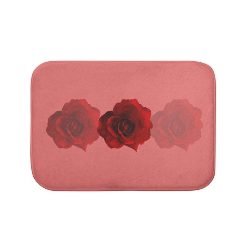 red 3 Home Bath Mat by Turkeylegsray's Artist Shop