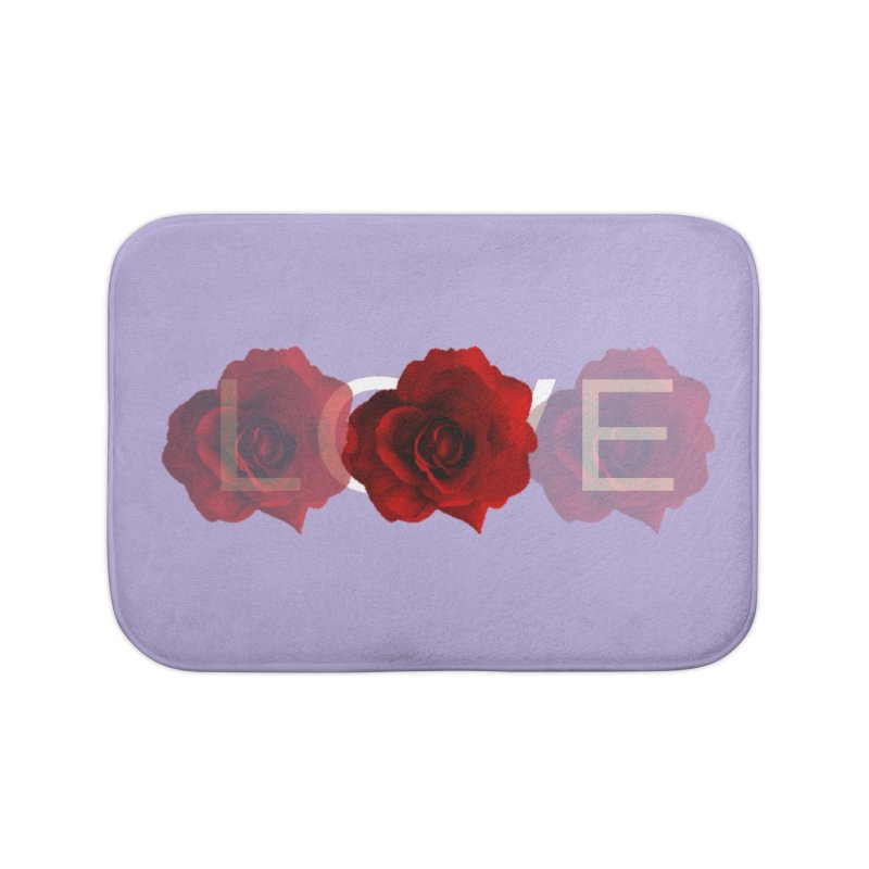 love rose Home Bath Mat by Turkeylegsray's Artist Shop