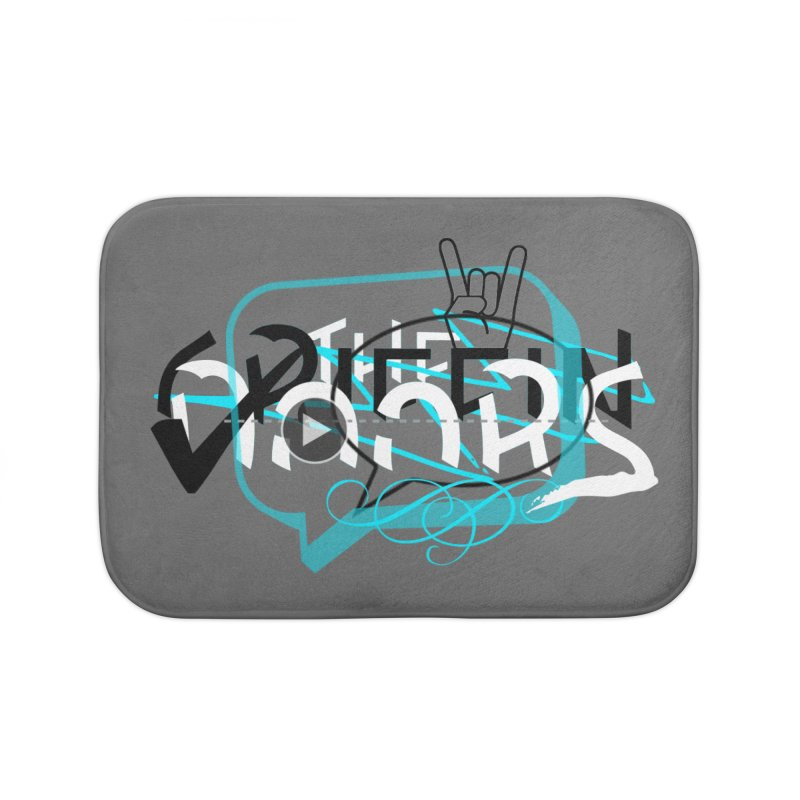 """THE GRIFFINDOORS """"Scribble"""" Home Bath Mat by Turkeylegsray's Artist Shop"""