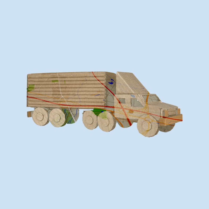 Cardboard Truck by Turkeylegsray's Artist Shop
