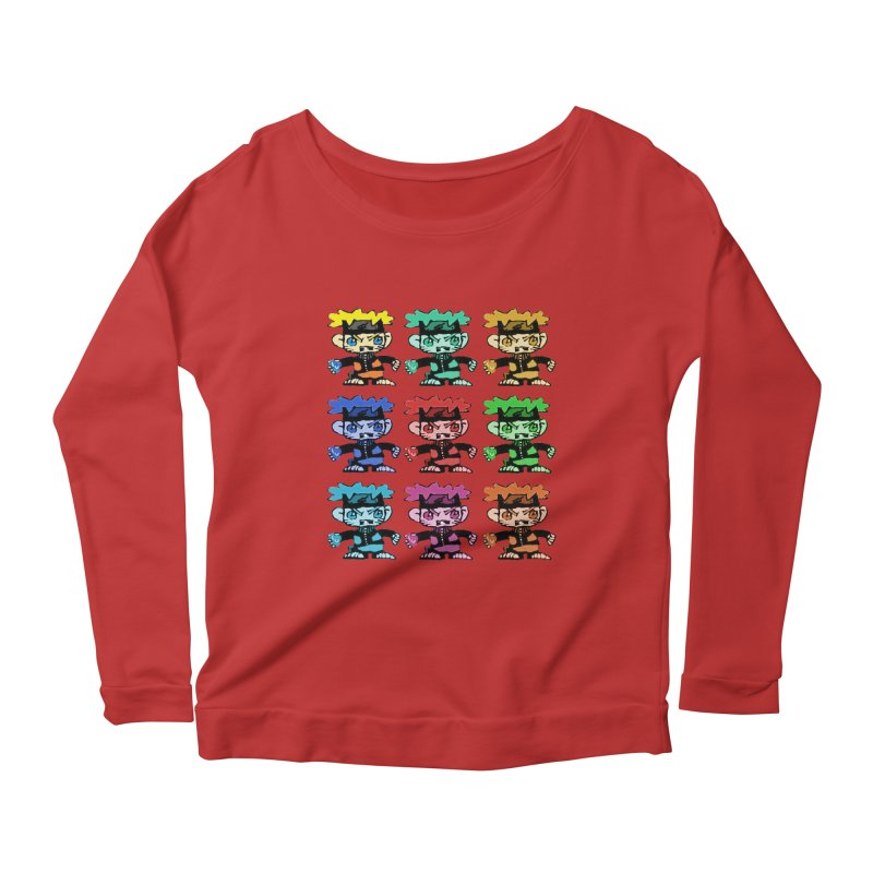 Kid Drawing! Women's Longsleeve Scoopneck  by Turkeylegsray's Artist Shop
