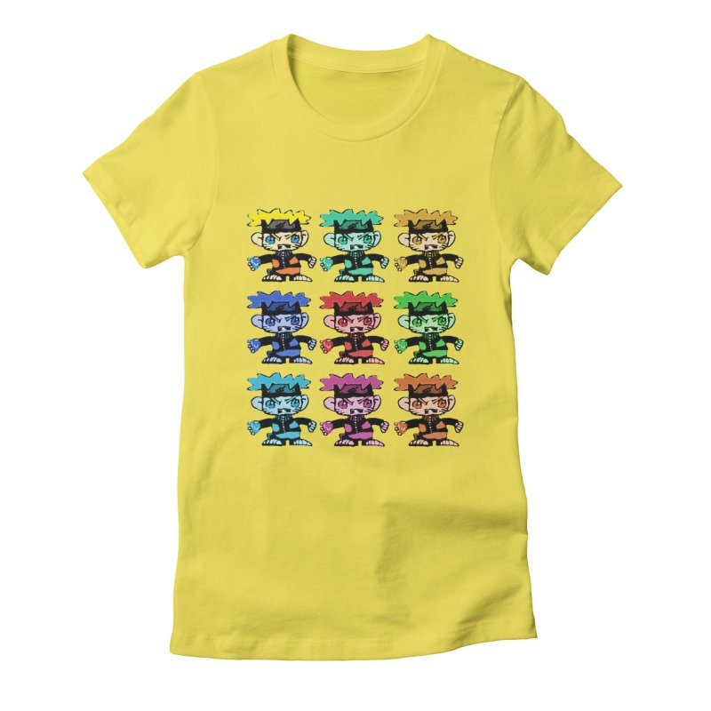Kid Drawing! Women's Fitted T-Shirt by Turkeylegsray's Artist Shop