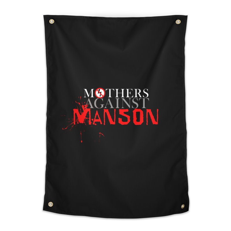 MOTHERS AGAINST MANSON! Home Tapestry by Turkeylegsray's Artist Shop