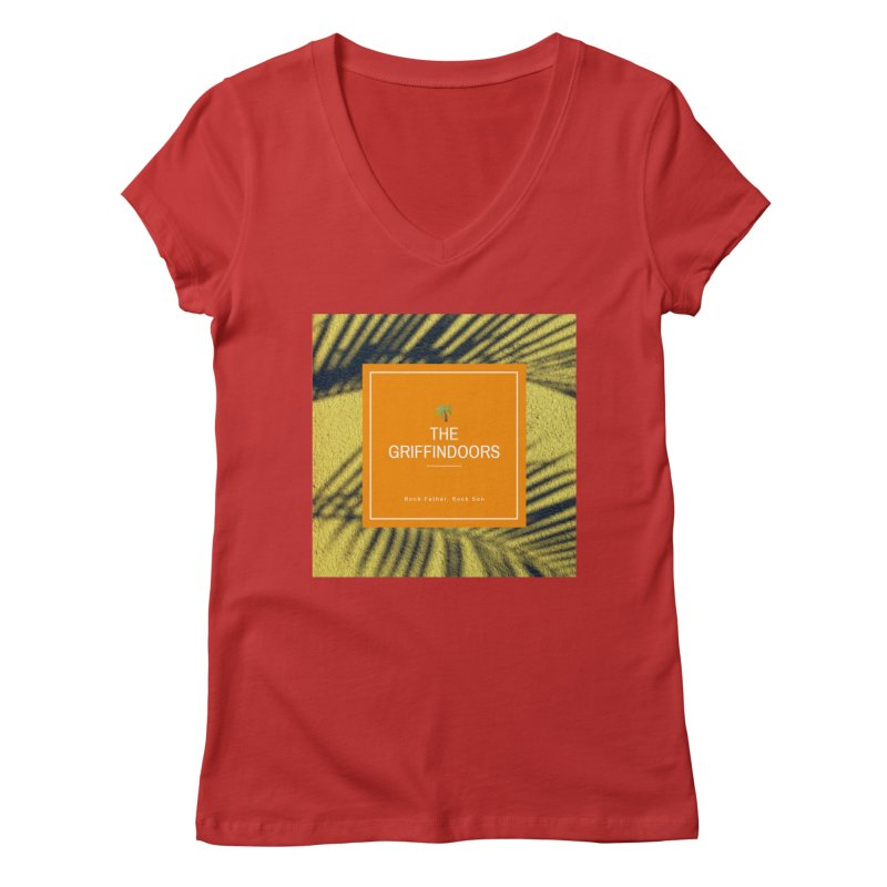 """THE GRIFFINDOORS """"Palm Trees"""" Women's V-Neck by Turkeylegsray's Artist Shop"""