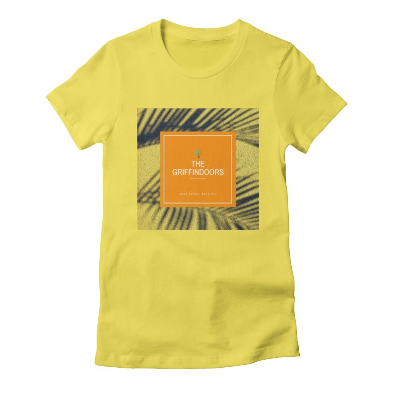 """THE GRIFFINDOORS """"Palm Trees"""" Women's Fitted T-Shirt by Turkeylegsray's Artist Shop"""