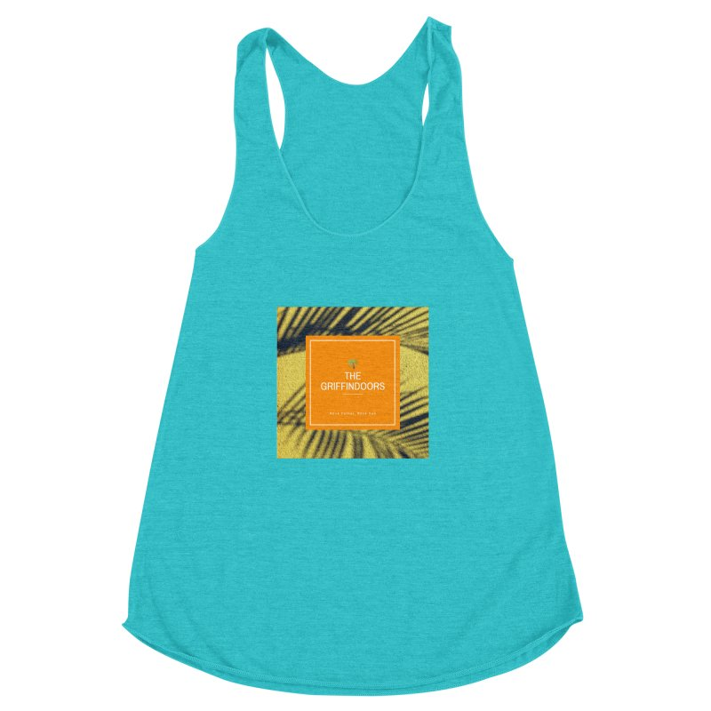 """THE GRIFFINDOORS """"Palm Trees"""" Women's Racerback Triblend Tank by Turkeylegsray's Artist Shop"""