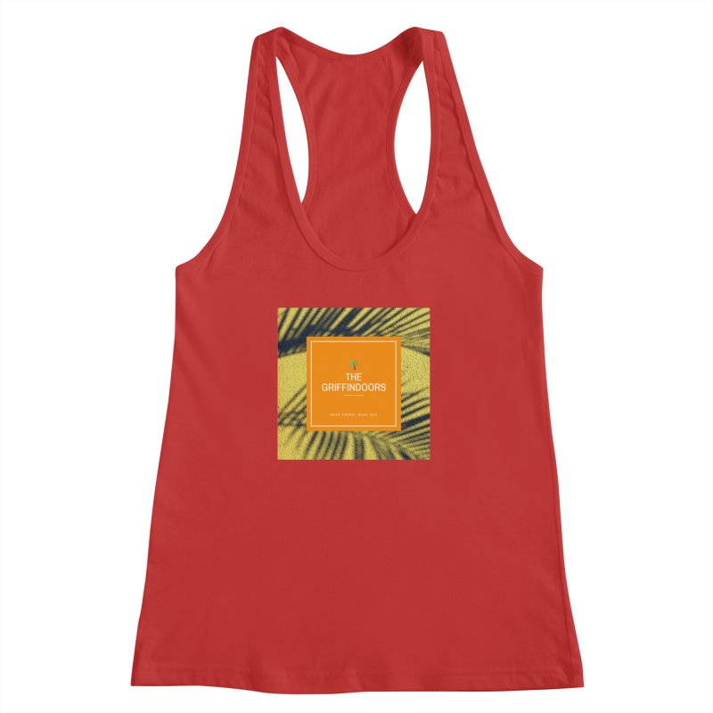 """THE GRIFFINDOORS """"Palm Trees"""" Women's Racerback Tank by Turkeylegsray's Artist Shop"""