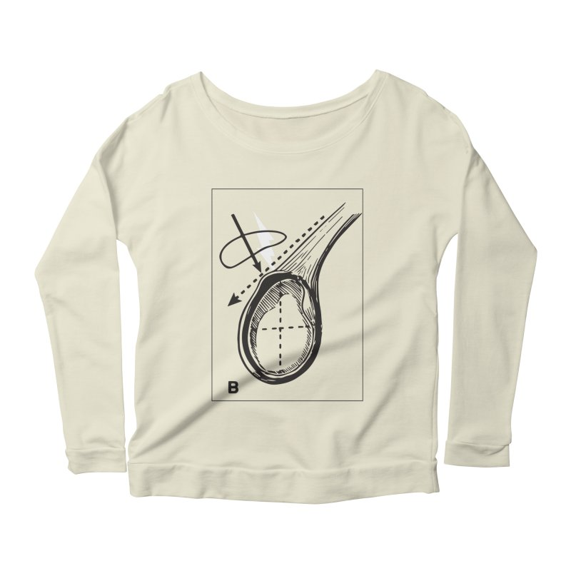 Peel Women's Longsleeve Scoopneck  by Turkeylegsray's Artist Shop