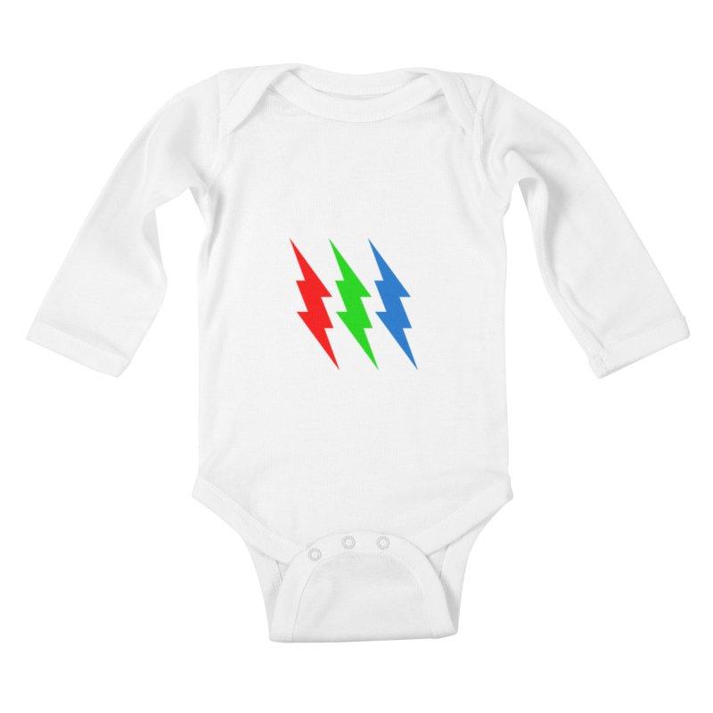 RG(BOLT) Kids Baby Longsleeve Bodysuit by Turkeylegsray's Artist Shop