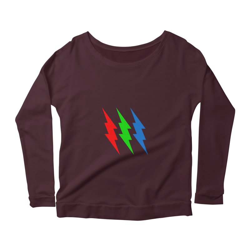RG(BOLT) Women's Longsleeve Scoopneck  by Turkeylegsray's Artist Shop