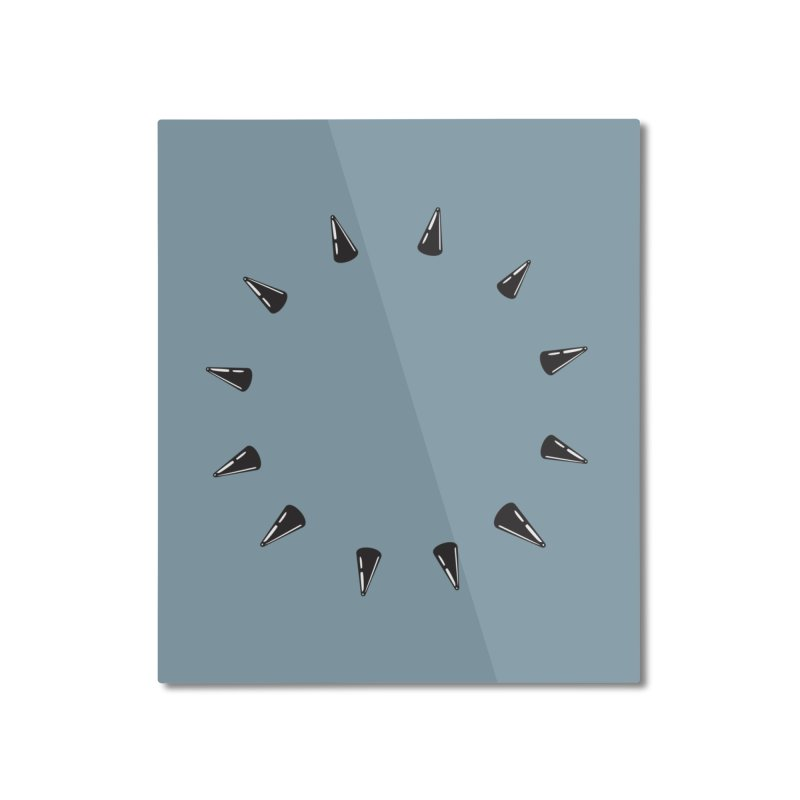 spikes Home Mounted Aluminum Print by Turkeylegsray's Artist Shop