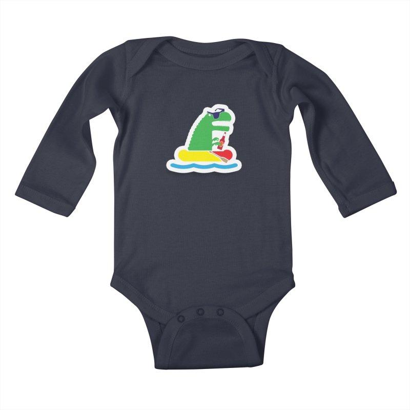 DINO-RAFTER Kids Baby Longsleeve Bodysuit by Turkeylegsray's Artist Shop