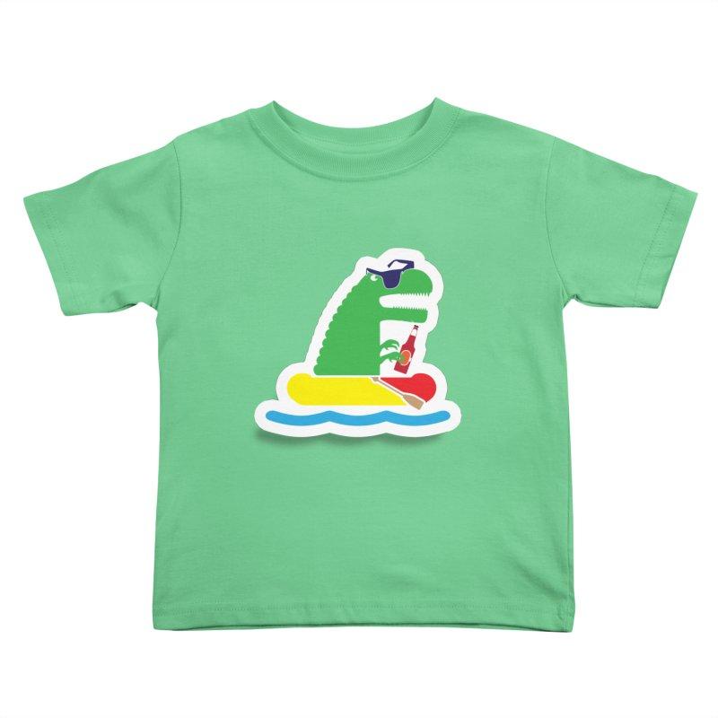 DINO-RAFTER Kids Toddler T-Shirt by Turkeylegsray's Artist Shop