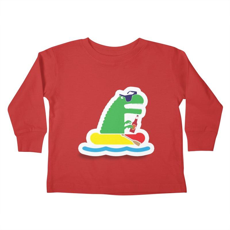 DINO-RAFTER Kids Toddler Longsleeve T-Shirt by Turkeylegsray's Artist Shop