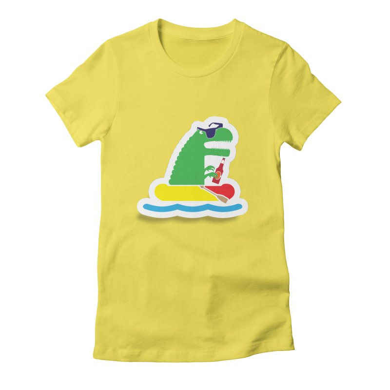 DINO-RAFTER Women's Fitted T-Shirt by Turkeylegsray's Artist Shop