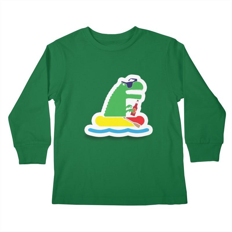 DINO-RAFTER Kids Longsleeve T-Shirt by Turkeylegsray's Artist Shop