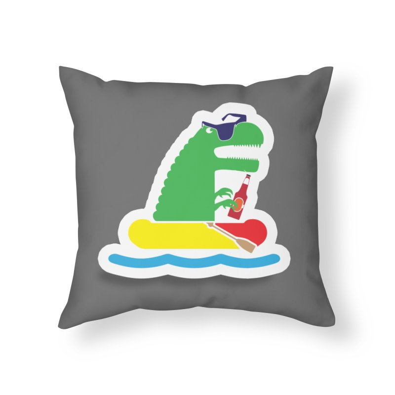 DINO-RAFTER Home Throw Pillow by Turkeylegsray's Artist Shop